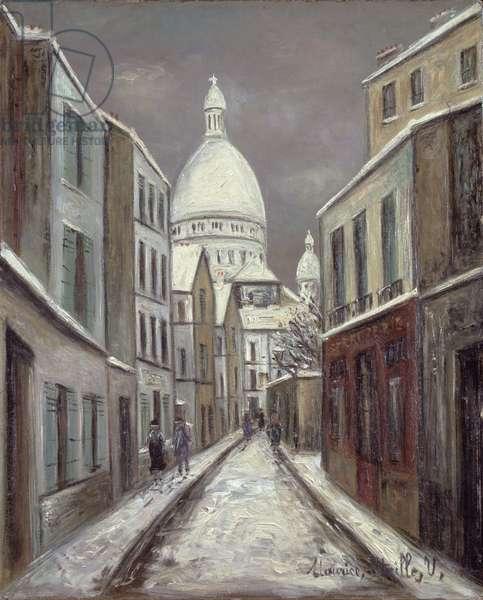 The Rue Saint-Rustique, c.1933 (oil on paper)