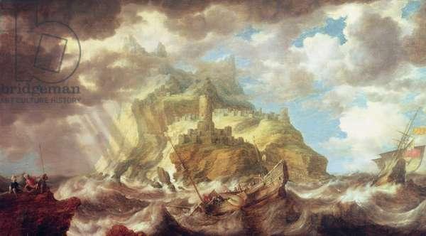 Dutch shipping in heavy seas