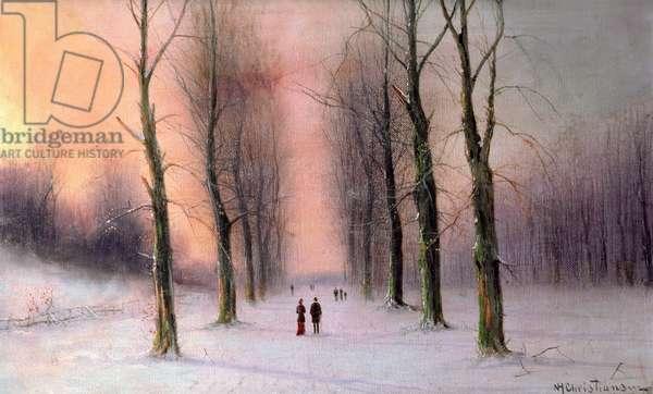 Snow Scene-Wanstead Park