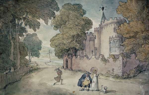 Strawberry Hill (hand coloured aquatint)