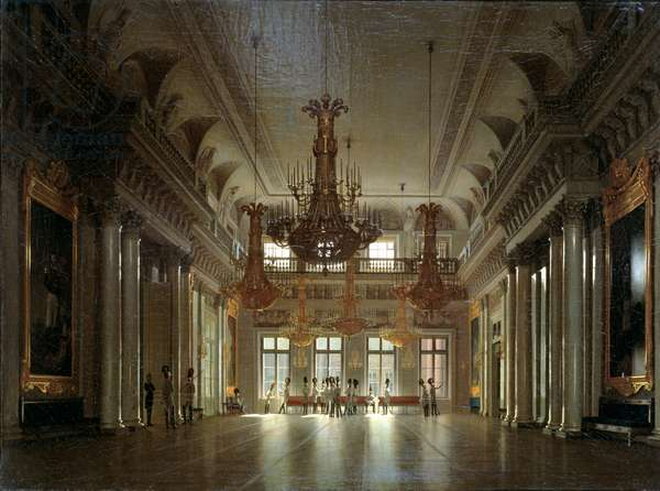 The Hall of the Field Marshal in the Winter Palace (oil on canvas)