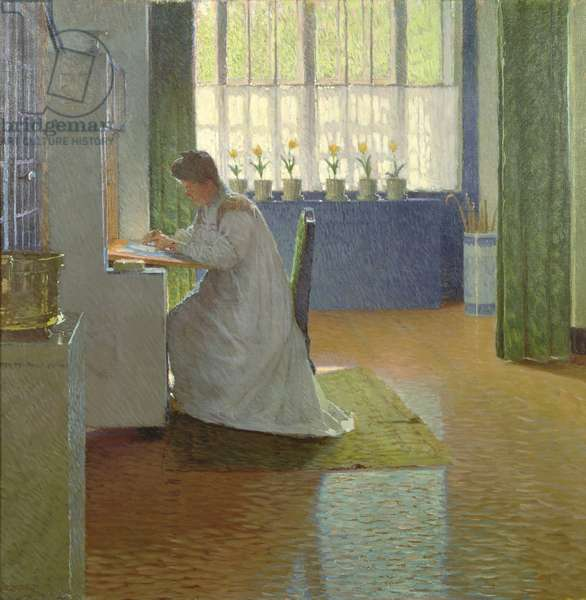 The Artist's Wife at her Desk