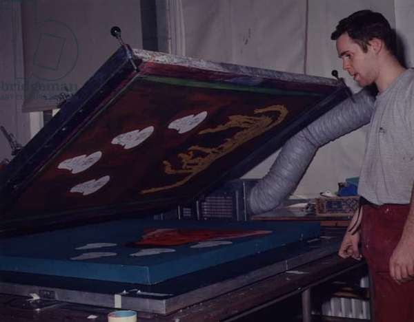 Processes of Silk screen Printing: Stage 4 - Revealing the Print (photo)