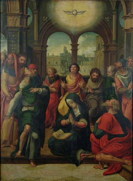 Descent of the Holy Ghost (oil on panel)
