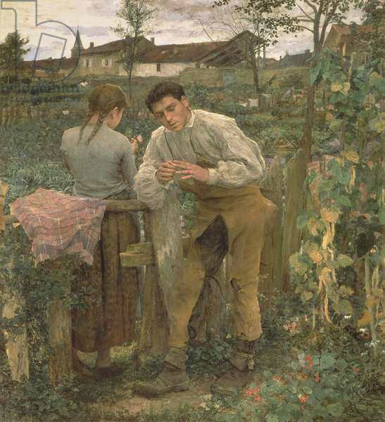 Rural Love, 1882 (oil on canvas)