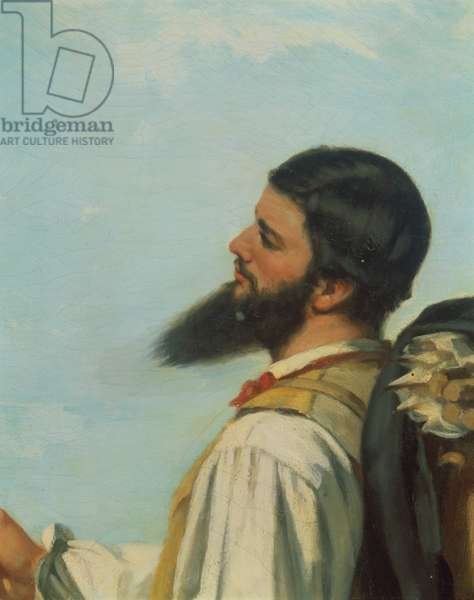 La Rencontre ou Bonjour M.Courbet, (detail of head and shoulders)