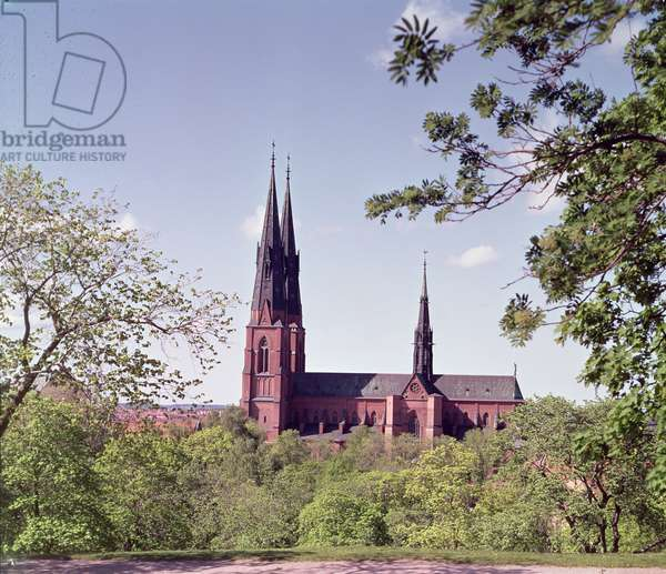 View of Uppsala Cathedral from the Castle (photo)
