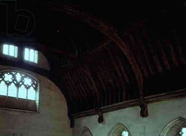Detail of the ceiling in the Baron's Hall, built 1341 (photo)