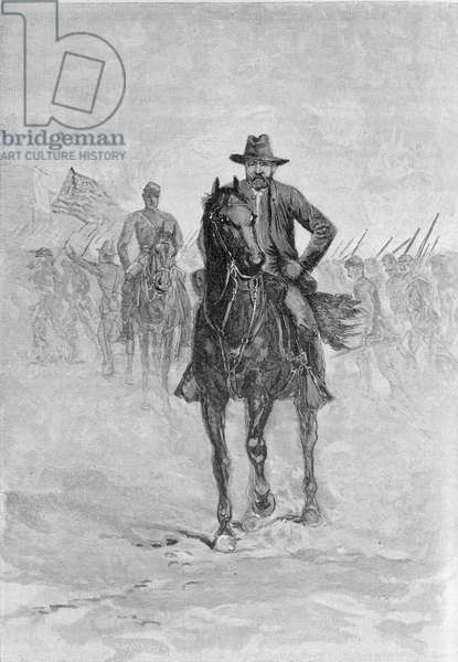 General Grant reconnoitering the confederate position at Spotsylvania court house, engraved by C.H. Reed, illustration from 'Battles and Leaders of the Civil War', edited by Robert Underwood Johnson and Clarence Clough Buel (engraving)