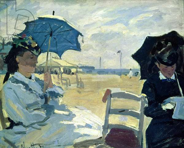 The Beach at Trouville, 1870 (oil on canvas)