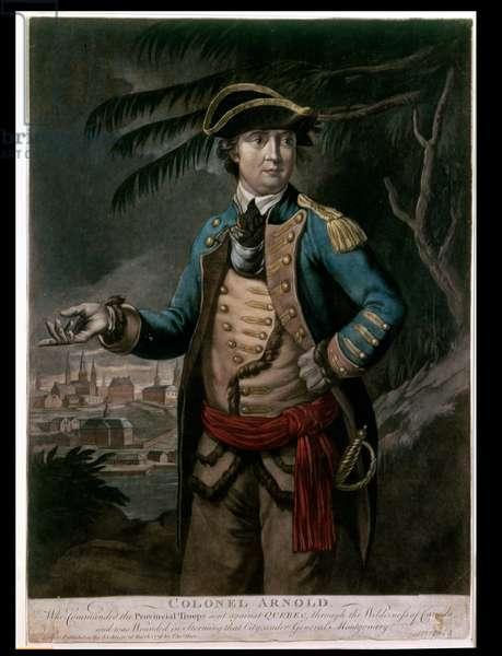 Colonel Benedict Arnold, pub. London, 1776 (mezzotint)