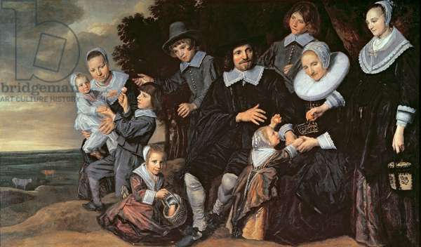 Family Group in a Landscape, c.1647-50 (oil on canvas)
