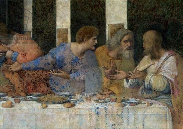 The Last Supper, 1495-97 (fresco) (post restoration)