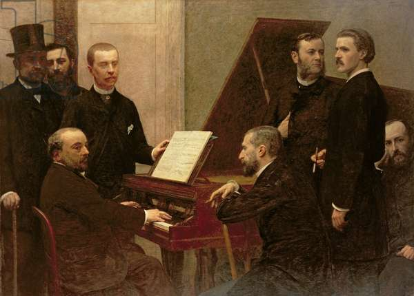 Around the Piano, 1885 (oil on canvas)