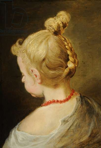 Sketch of one of the artist's daughters, 18th century (oil on canvas)