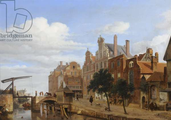 View in Amsterdam (oil on panel)