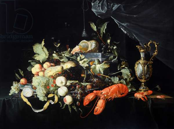 Fruit and lobster, 1649 (oil on canvas)