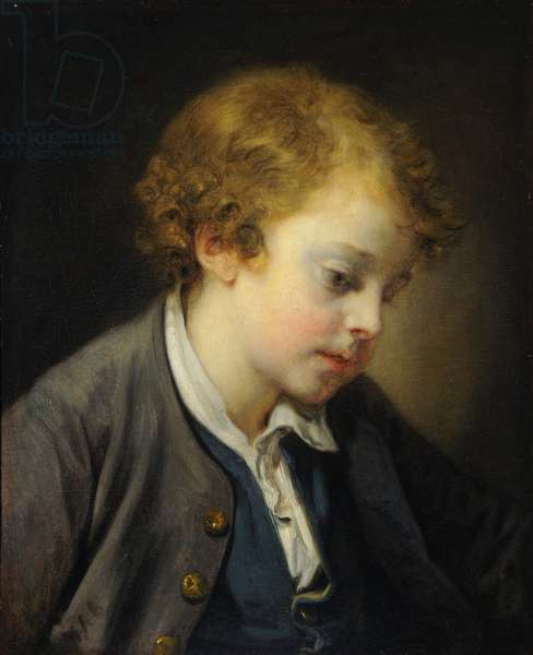 L'Ecolier (oil on canvas)