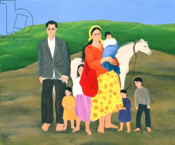 Gipsy Family, 1986 (oil on canvas)