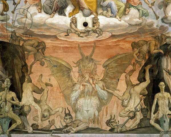 Detail of the cupola of the Duomo Santa Maria del Fiore in Florence c 1575 representing the devils and Hell