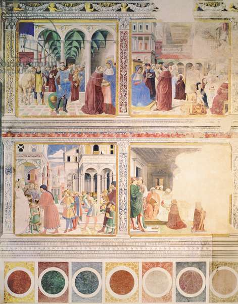 Episodes from the Life of St. Augustine, 1463-65 (fresco) (see also 192535, 192549, 192550, 192552, 192553, 192554)