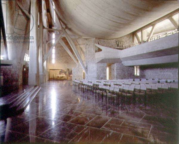 Interior view of the church (photo)