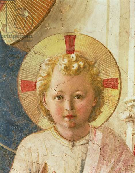 Detail of the Christ Child from the Madonna delle Ombre (Madonna of the Shadows), 1450 (fresco)