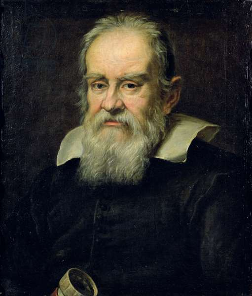 Portrait of Galileo Galilei (1564-1642) (oil on canvas)