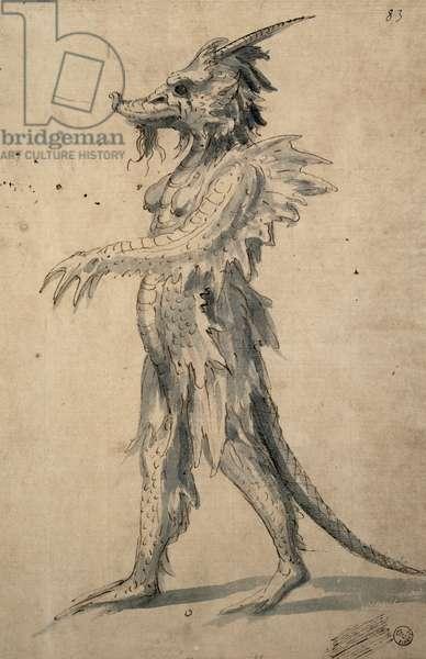 Design for a Dragon (pen & ink on paper)