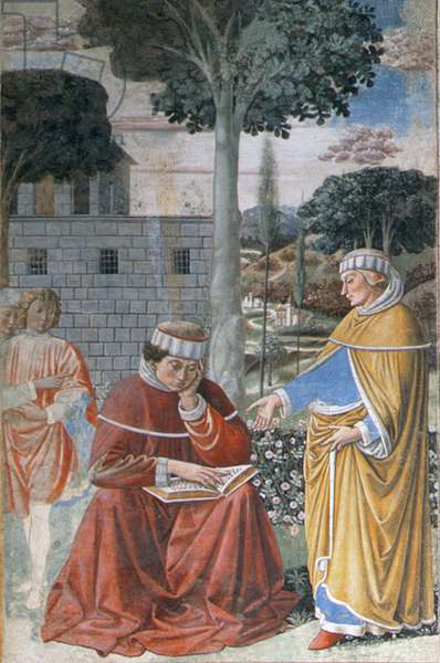Episodes from the Life of St. Augustine, 1463-65 (fresco) (detail of 192552)
