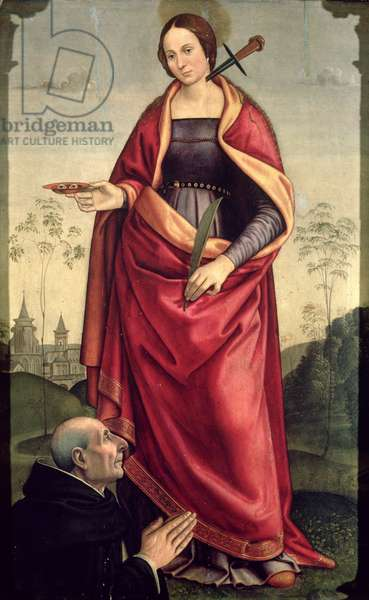 St. Lucy and a Donor