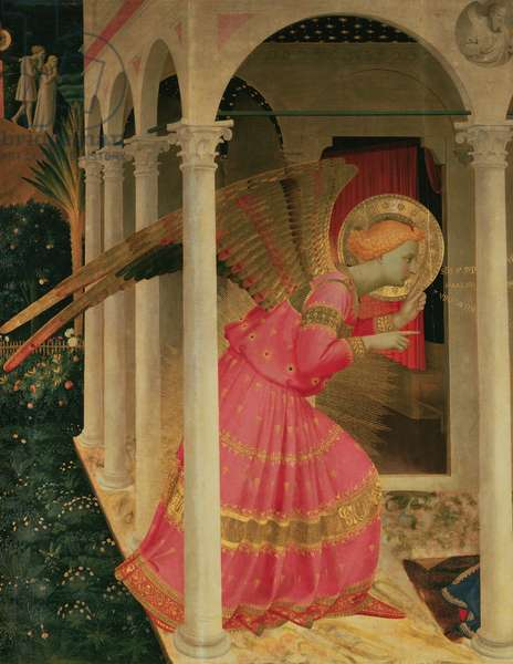 Detail from The Annunciation showing the Angel Gabriel