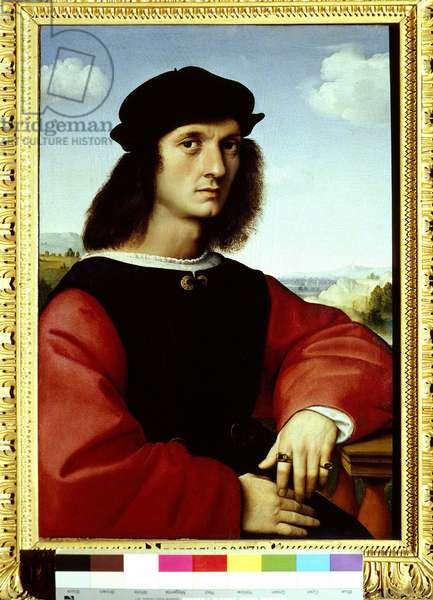 Portrait d'Agnolo Doni, 1505-1506 Peinture de Raphael (Raffaello Sanzio : 1483-1520)  Palais Pitti, Florence ©Battiglini/leemage