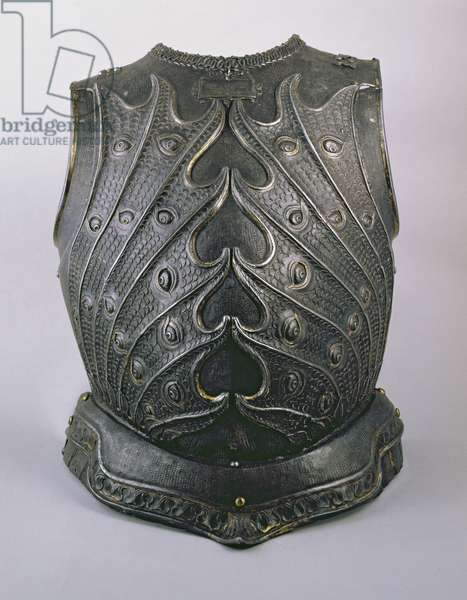 Armoured breastplate (metal)