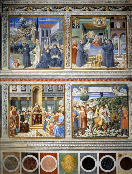 Fresco about Augustine's life - 1464-1465