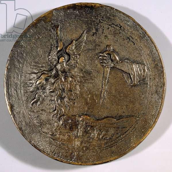 Dagger. Backside of the medal representing Jerome Savonarole (Girolamo Savonarola, 1452-1498)
