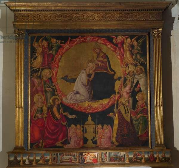 Coronation of the Virgin (tempera on wood)