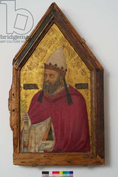 Saint Silvester (tempera on panel)