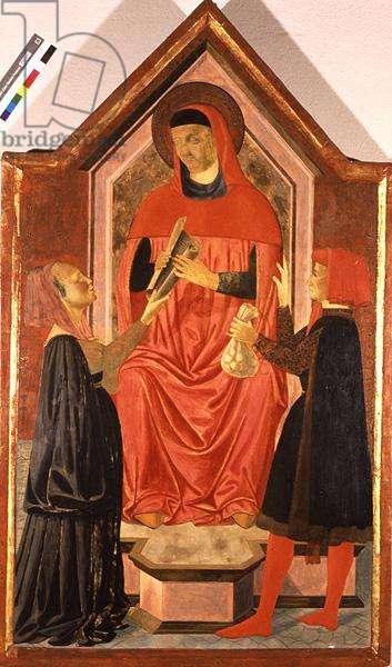St. Ivo Passes Judgement (tempera on panel)