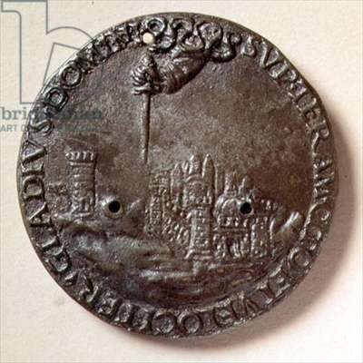 'The Hand that Threatens Florence', medal (bronze)