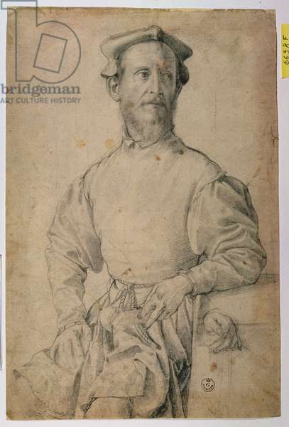 Portrait of Jacopo Pontormo (1497-1557) (black chalk on paper)