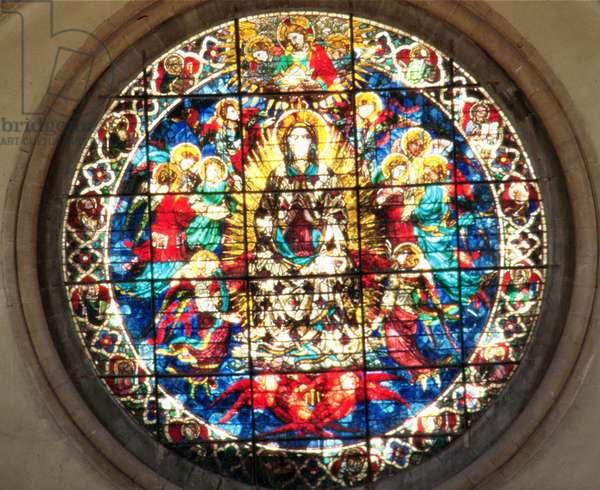 The Assumption of the Virgin (stained glass)