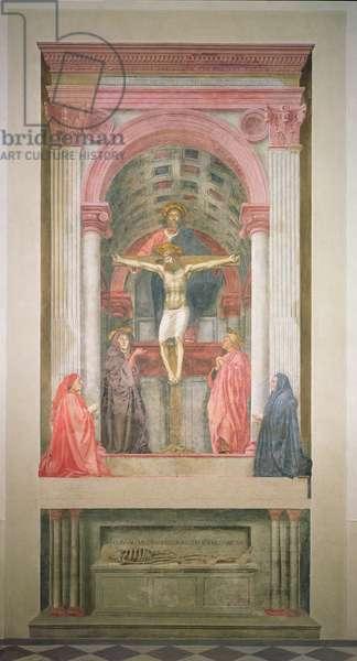 The Trinity, 1427-28 (fresco) (post restoration)