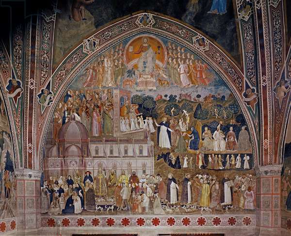 The Church Militant and Triumphant, in the Spanish Chapel, c.1369 (fresco)