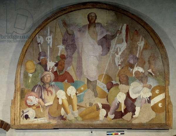 The transfiguration of Christ - (fresco)