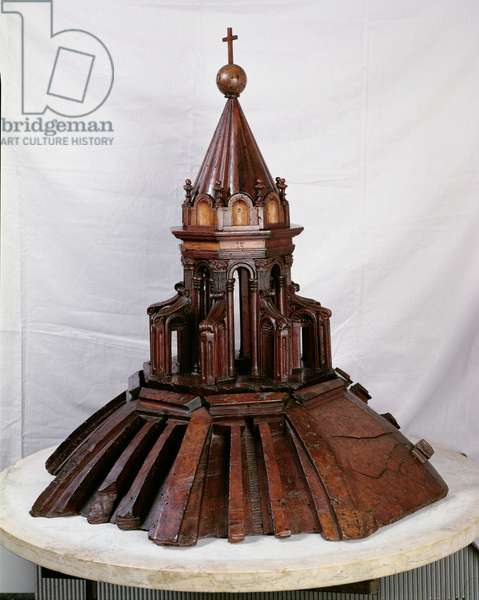 Model of the cupola atop the Duomo (wood)