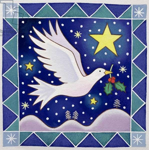 Christmas Dove (w/c on paper)