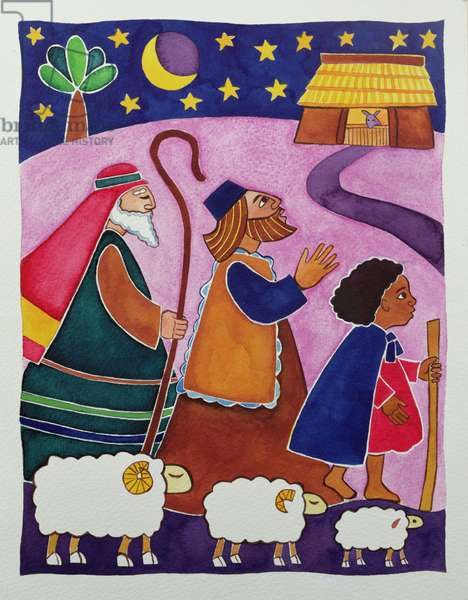 The Shepherds Journey to Bethlehem