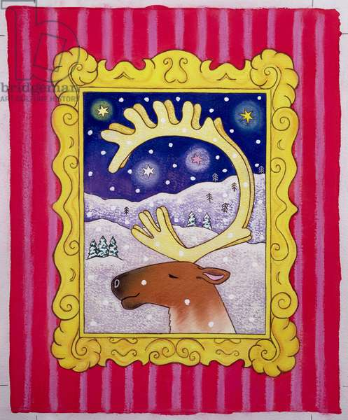 Christmas Antlers, 1996 (pastel and gouache on paper)