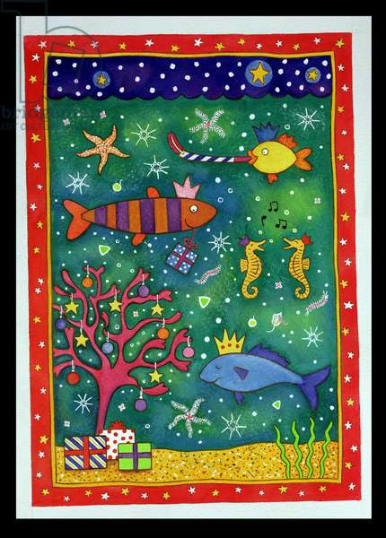 Fishy Christmas, 1997 (w/c and pastel on paper)